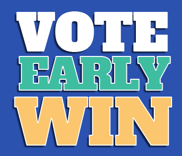 Vote Early Win logo