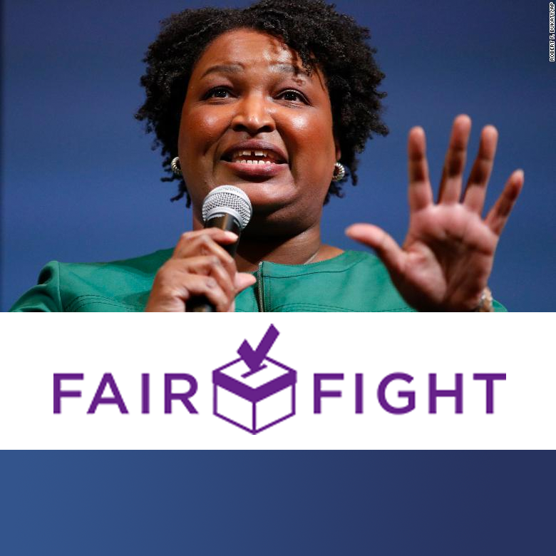 square Fair Fight Stacey Abrams